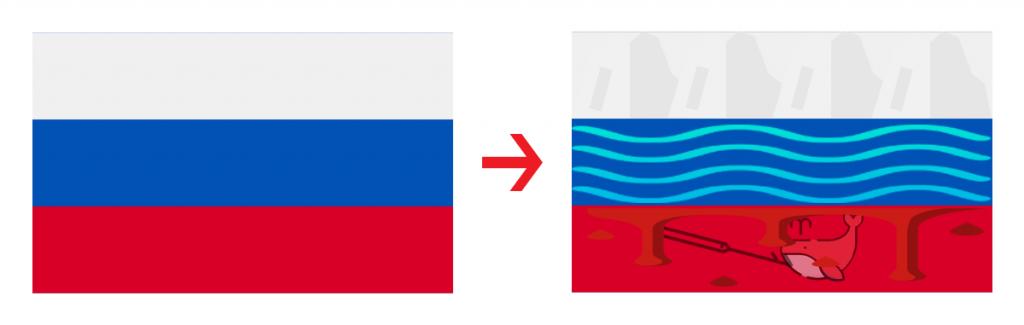 lá cờ nga tả thực